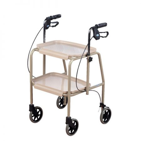 Adjustable Height Trolley Walker with Brakes