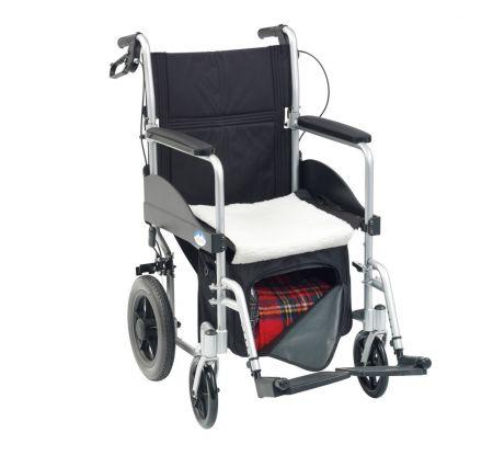 Wheelchair underseat bag with fleece seat warmer
