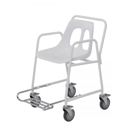 Wheeled Shower Chair with Extending Footrest