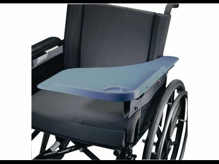 Lightweight Wheelchair Lap Tray with Flip Away Half