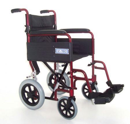 Z-Tec Folding Aluminium Transit Wheelchair ZT-600-601