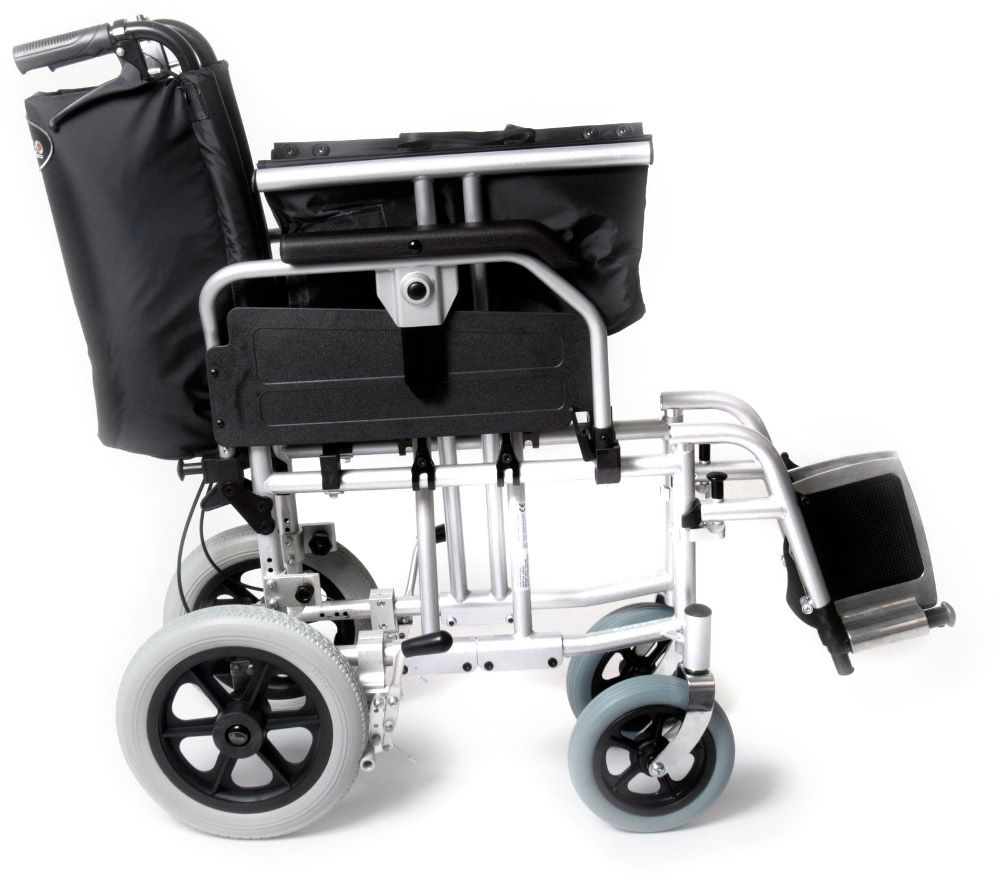 Esteem Heavy Duty Bariatric Transit Wheelchair shown folded ready for transport or storage