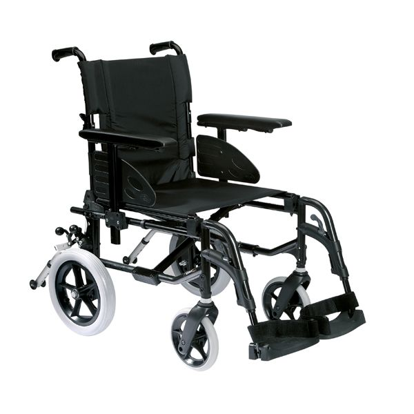 Invacare Action2 Transit Wheelchair shown from the side view