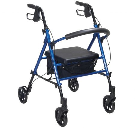 Drive Medical Aluminium Rollator with Adjustable Seat Height