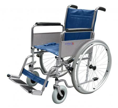 Roma Medical 1410 Chrome Self Propelled Steel Wheelchair
