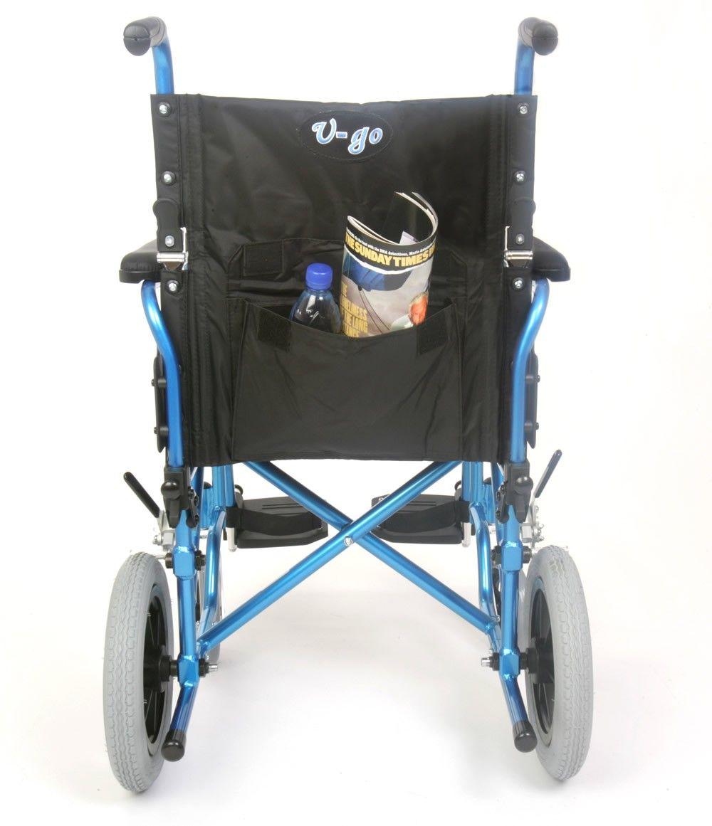 U-Go Esteem Alloy Lightweight Transit Wheelchair Rear View