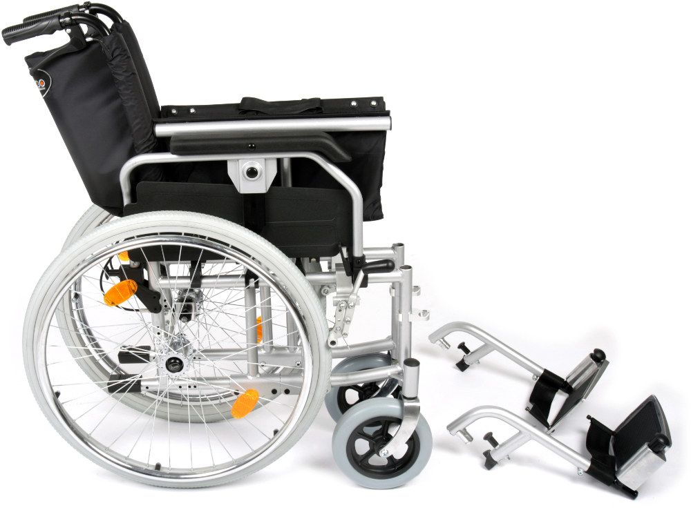 Extra Wide Bariatric Self Propelled Wheelchair in pieces for transport