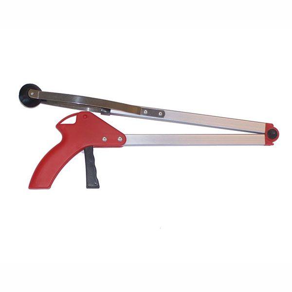Aluminium Folding Grabber with Suction Cup Tip Reacher