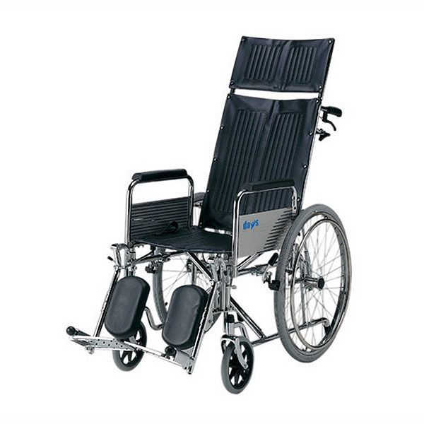 Days Healthcare Reclining Wheelchair shown from the side angle