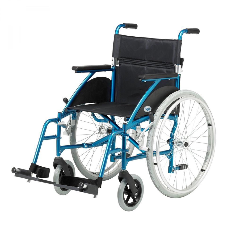 Days Swift Lightweight Self Propelled Wheelchair in Turqoise Side View