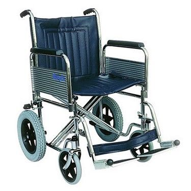 Days Healthcare Heavy Duty Transit Steel Wheelchairs Shown from the side view