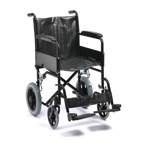Drive Medical Budget Steel Transit Wheelchair Side View