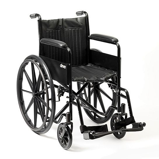 Drive Medical S1 Steel Self Propelled Wheelchair