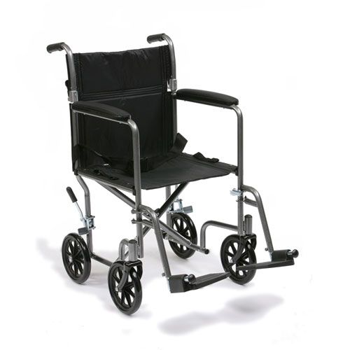 Drive Medical Steel Transit Wheelchair Side View