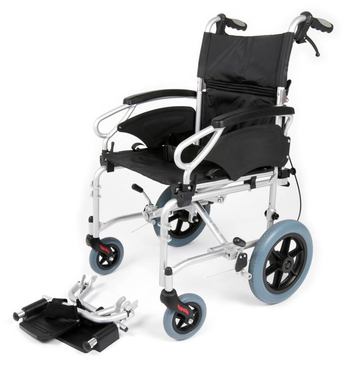 Esteem Eclipse Aluminium Transit Wheelchair With Foot Rests Removed