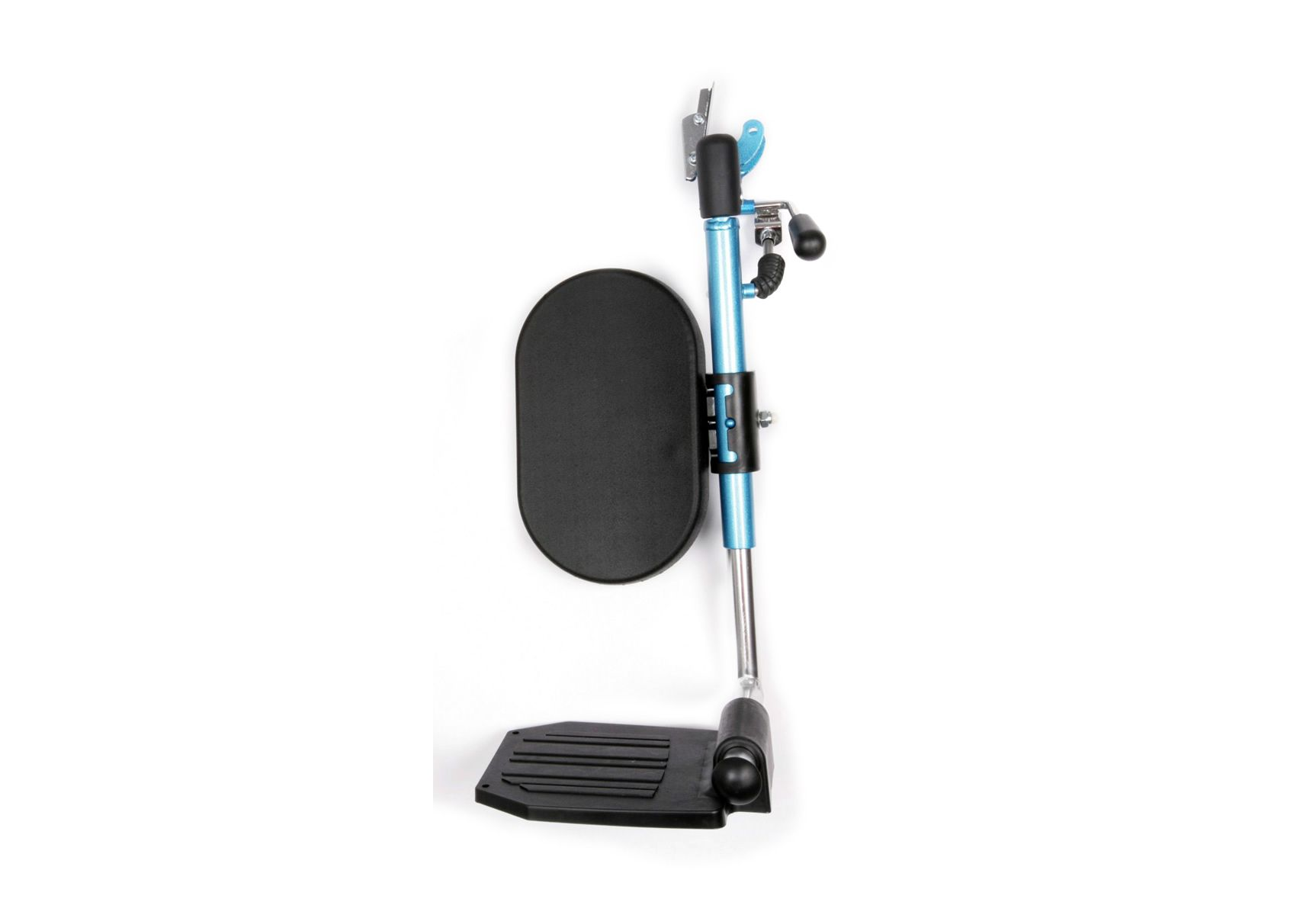 Alloy Elevated Left Leg Rest for U-Go Esteem Wheelchairs Light Blue