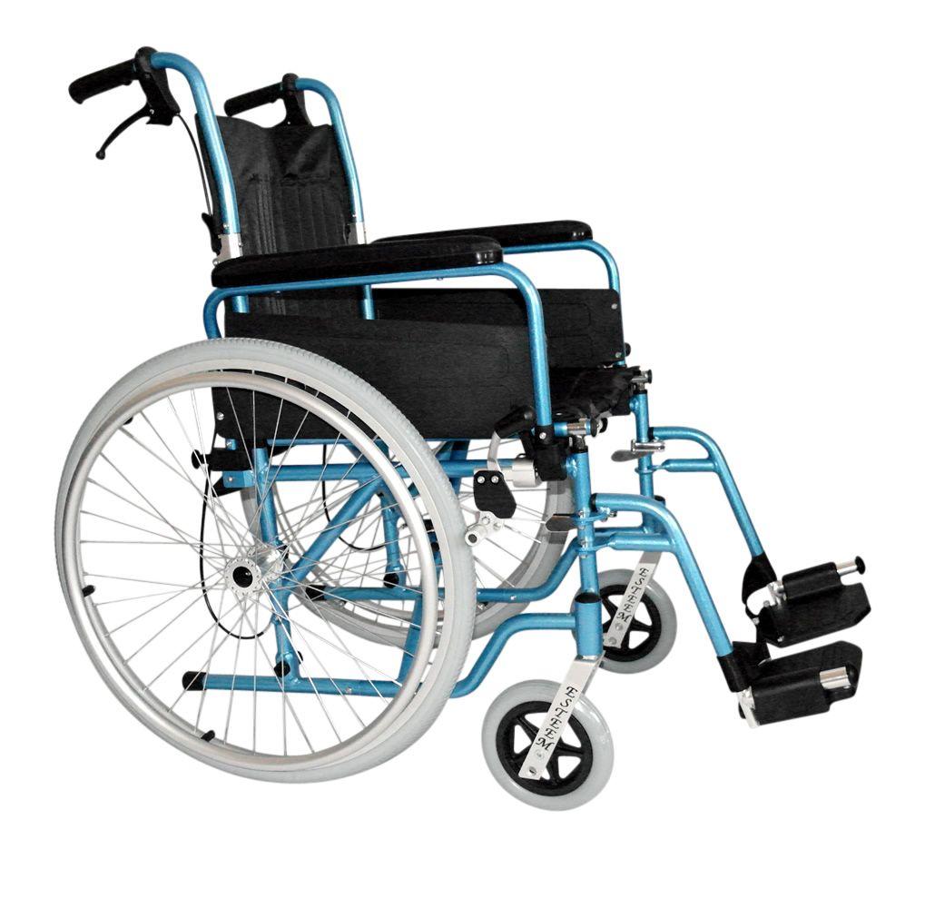 Esteem Lightweight Attendant Brake Self Propelled Folding Wheelchair Side View