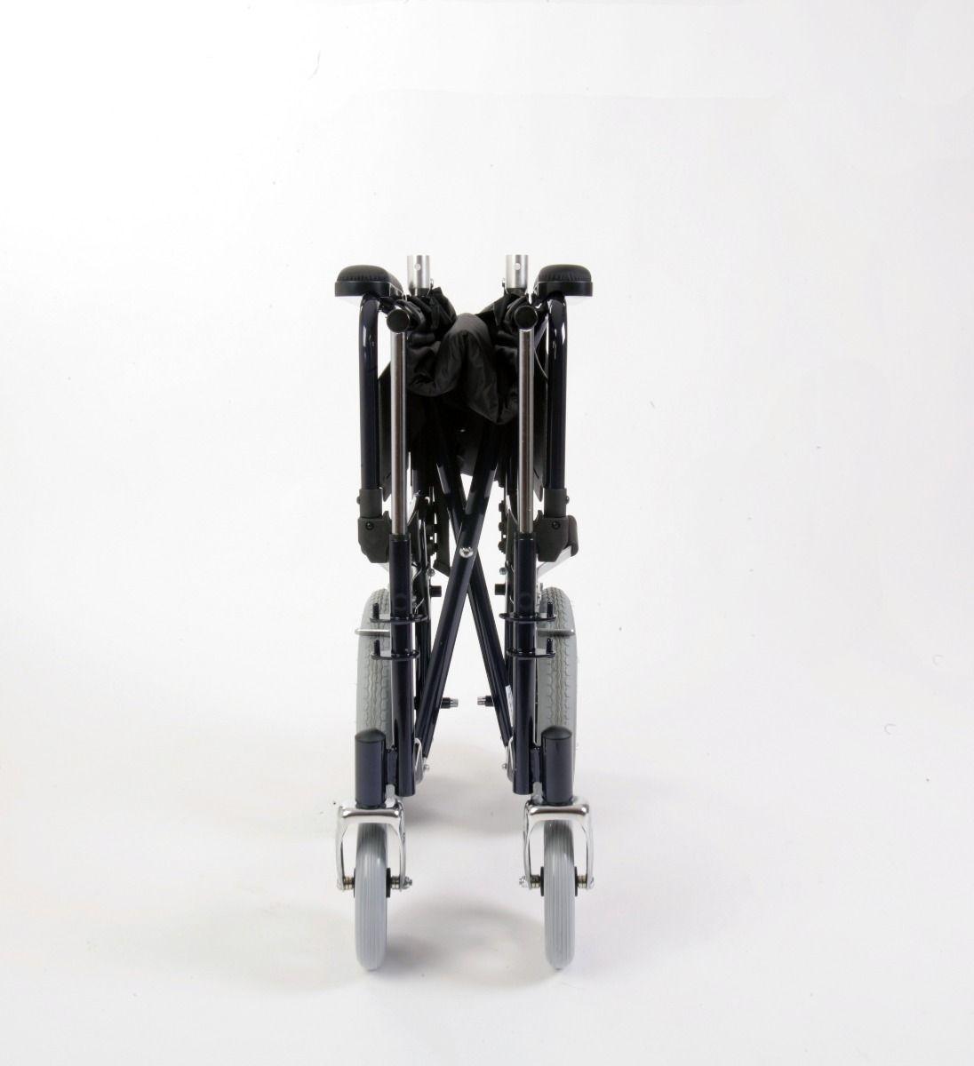 Esteem Self Propelled Folding Steel Wheelchair Folded