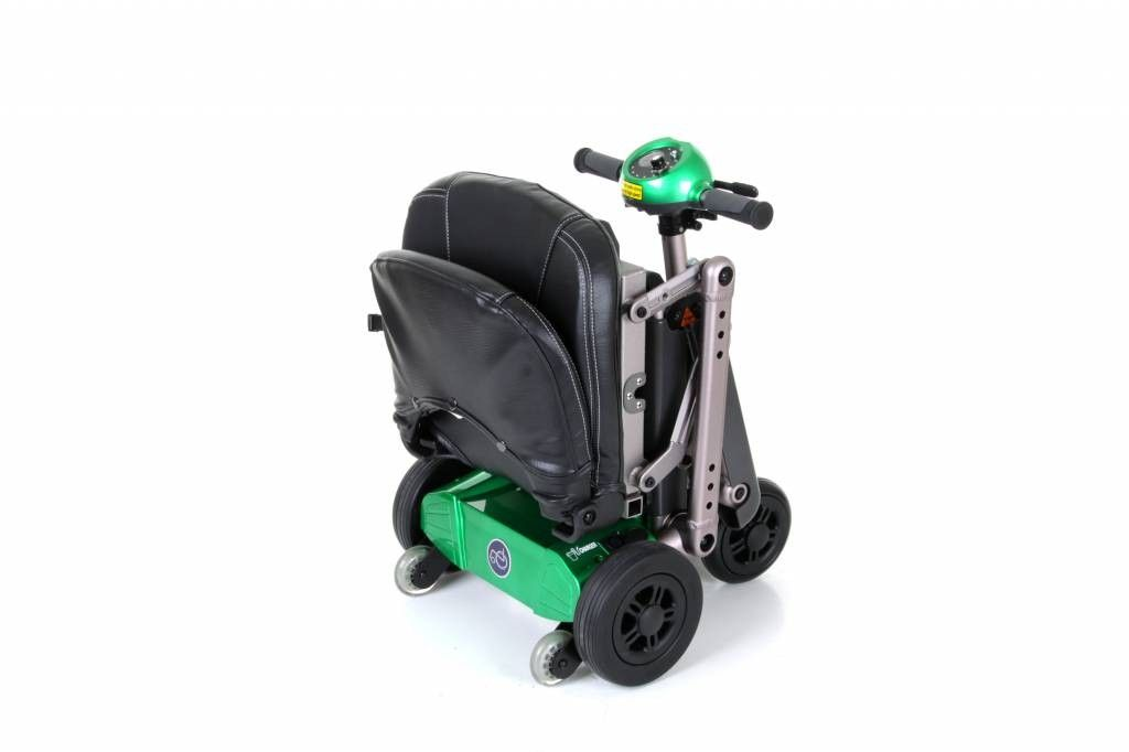 Van Os Excel Yoga Scooter Folded ready for transport