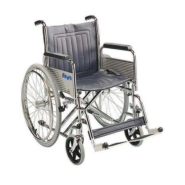Days Healthcare Heavy Duty Self Propelled Steel Wheelchair Side View