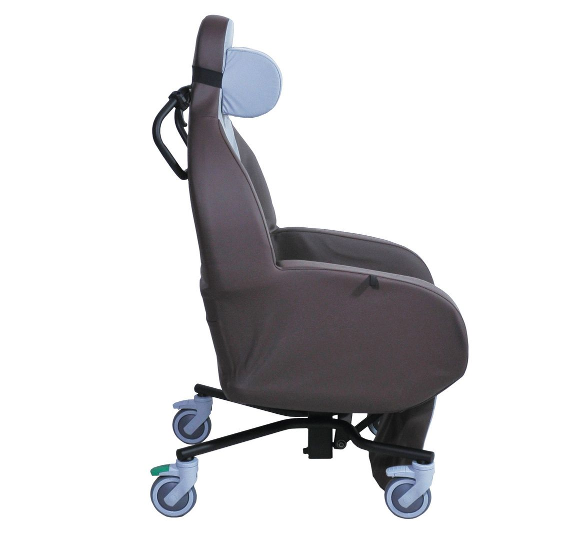 The Integra Shell Seat shown tilited forward for getting out of the chair