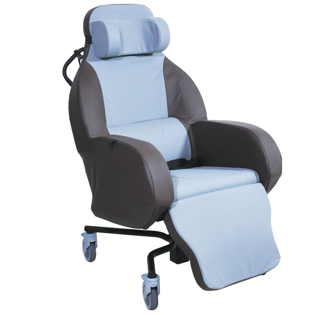The Integra shell seat shown upright from the side view