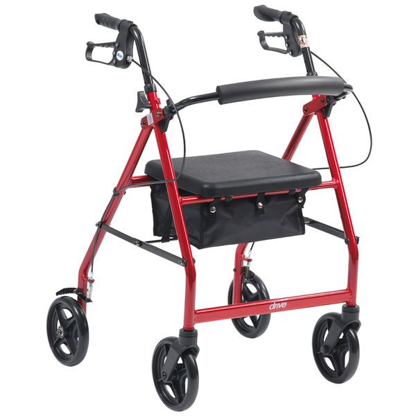 Side view of the Drive Medical lightweight prescription rollator