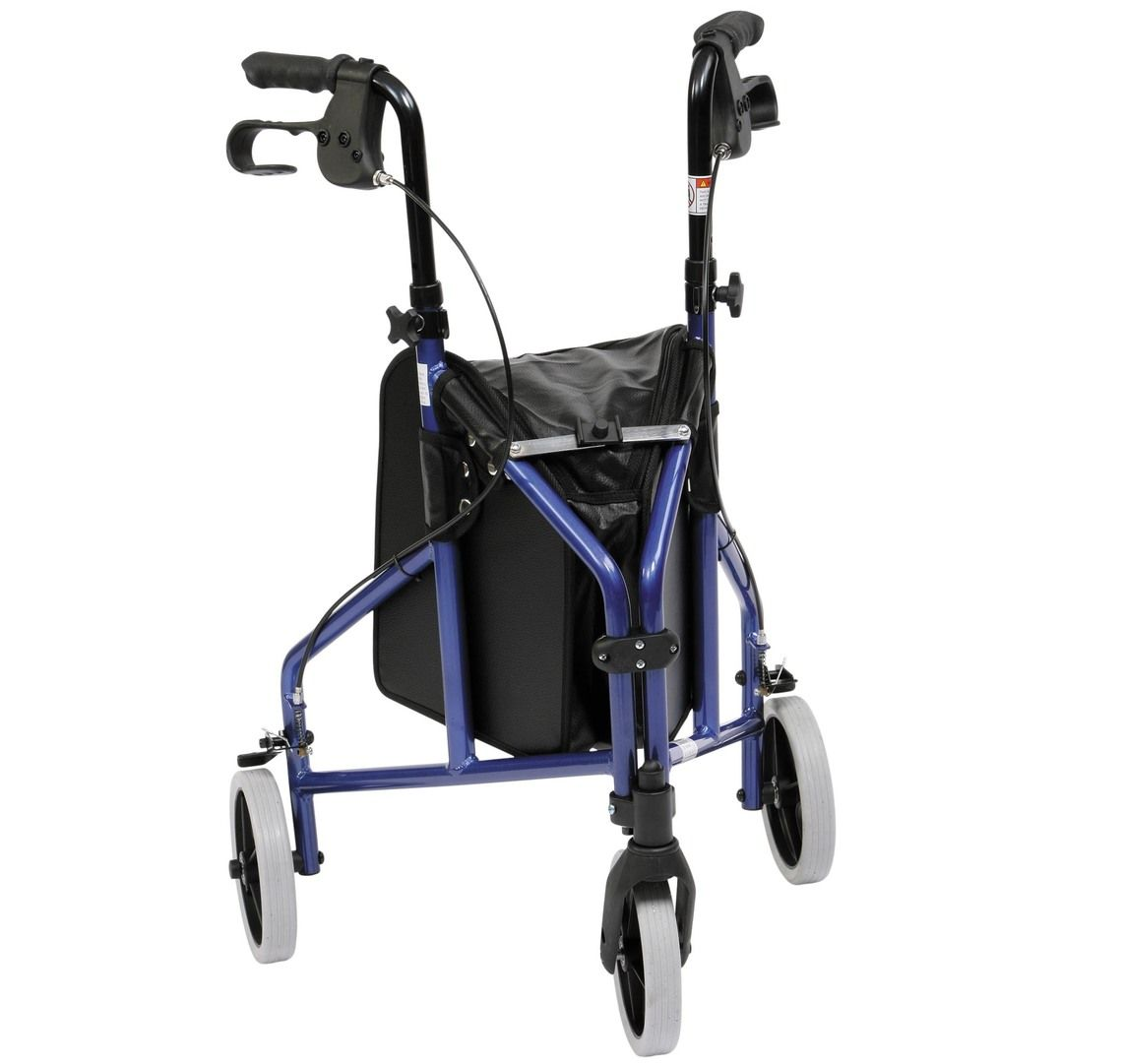 Drive Medical lightweight aluminium tri walker viewed from the front