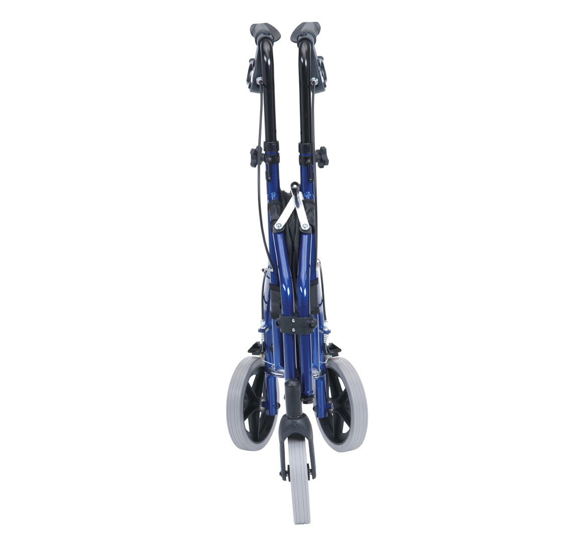 Drive Medical lightweight aluminium tri walker folded