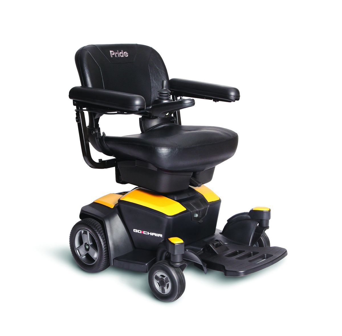 Go Chair powerchair in yellow from Pride Mobility