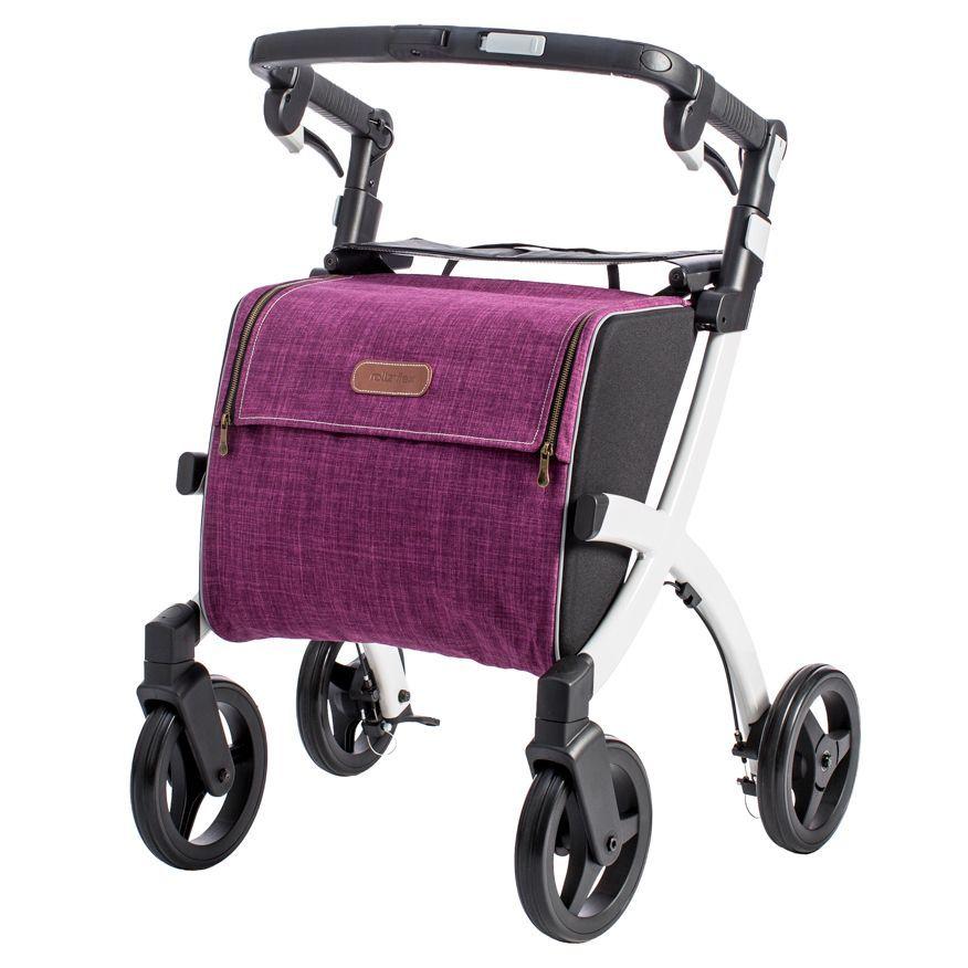 The Rollz Flex rollator in purple