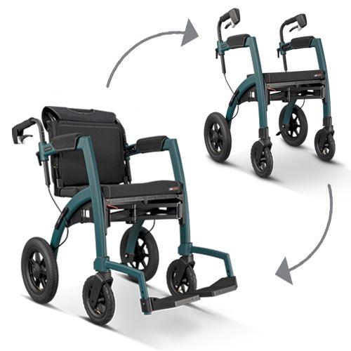 Rollz Motion Performance wheeled walker showing height adjustable handles