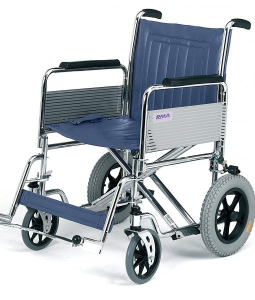 Roma Medical 1485 Heavy Duty Bariatric Transit Wheelchair Shown from the side view