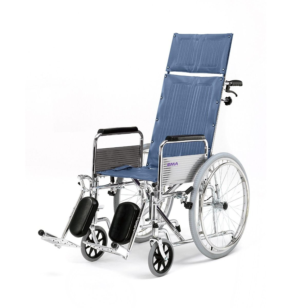 Roma Medical 1710 Self Propelled Reclining Wheelchair Side View