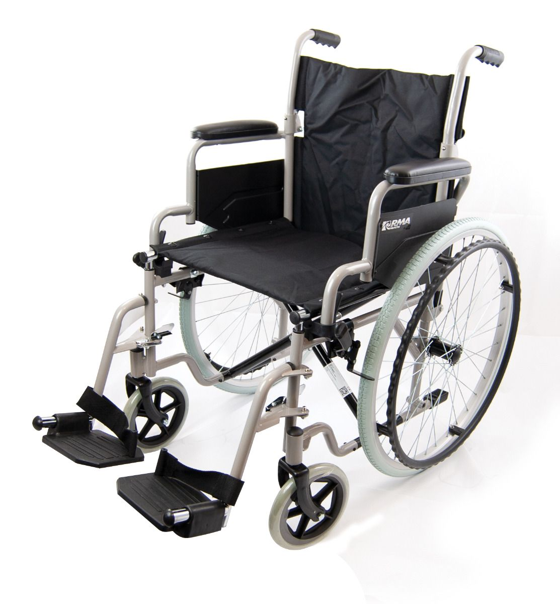 Roma Medical 1050 Self Propelled Wheelchair viewed from the side angle