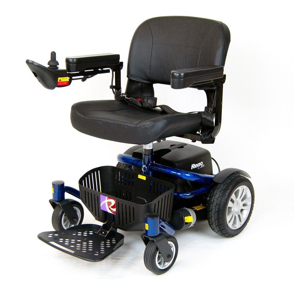 Roma Reno Elite electric wheelchair in blue from Roma Medical