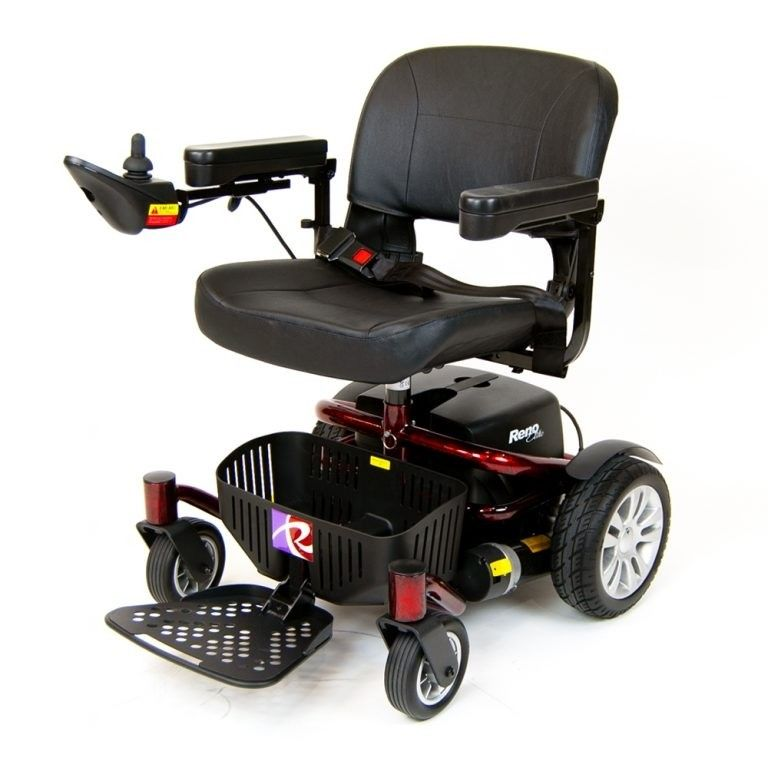 Roma Reno Elite powerchair in red from Roma Medical