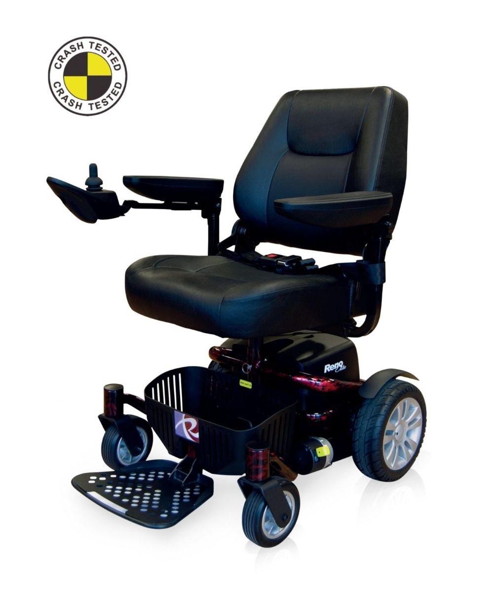 Roma Elite electric wheelchair with captain's seat