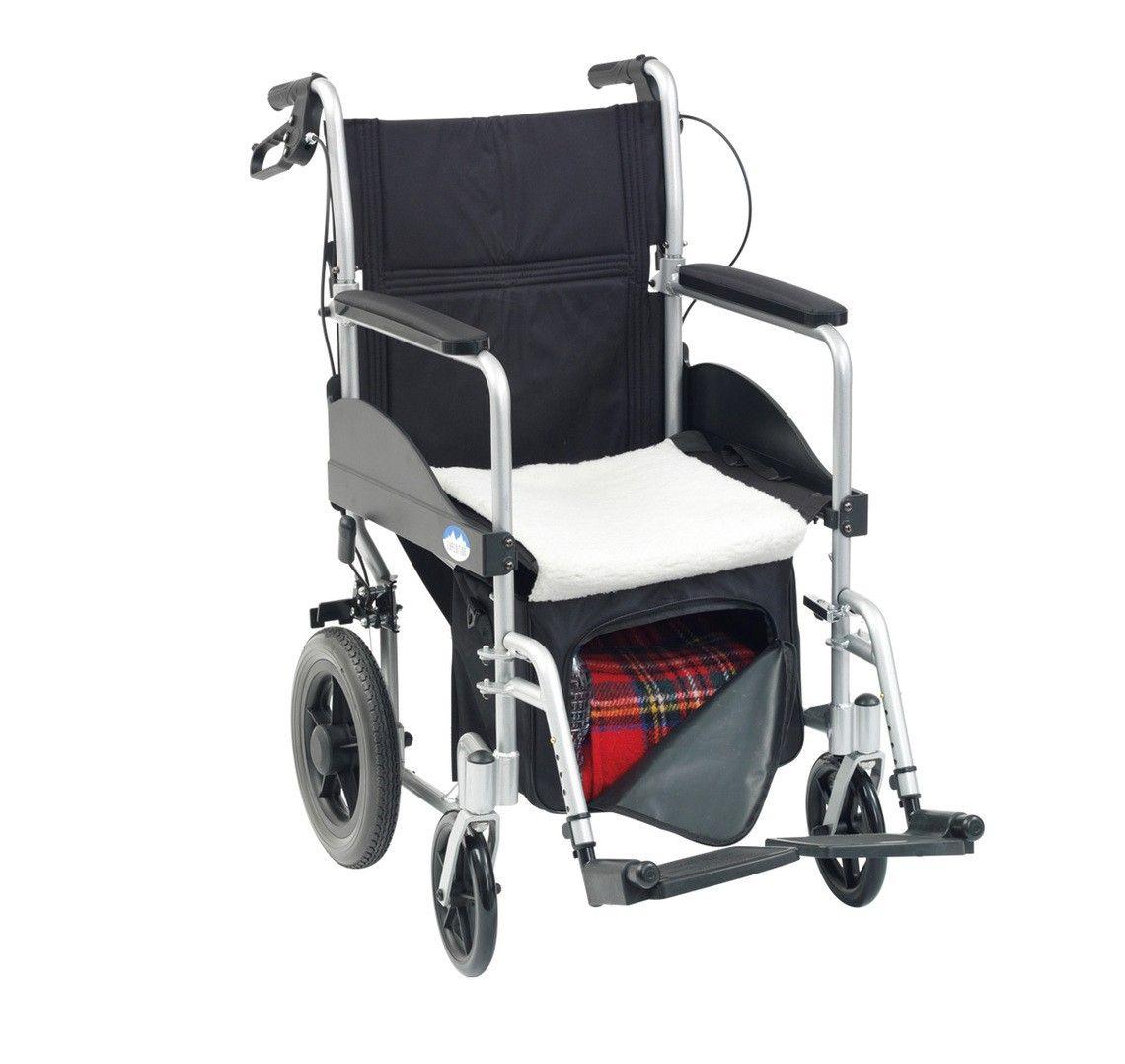 Underseat wheelchair bag with fleece seat