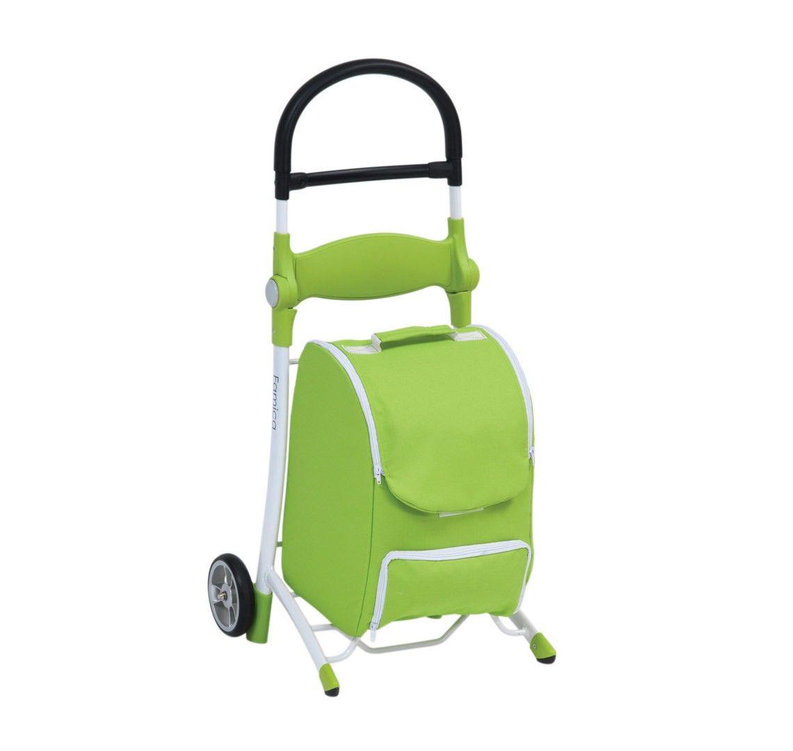 Shop N Sit Shopping Trolley green