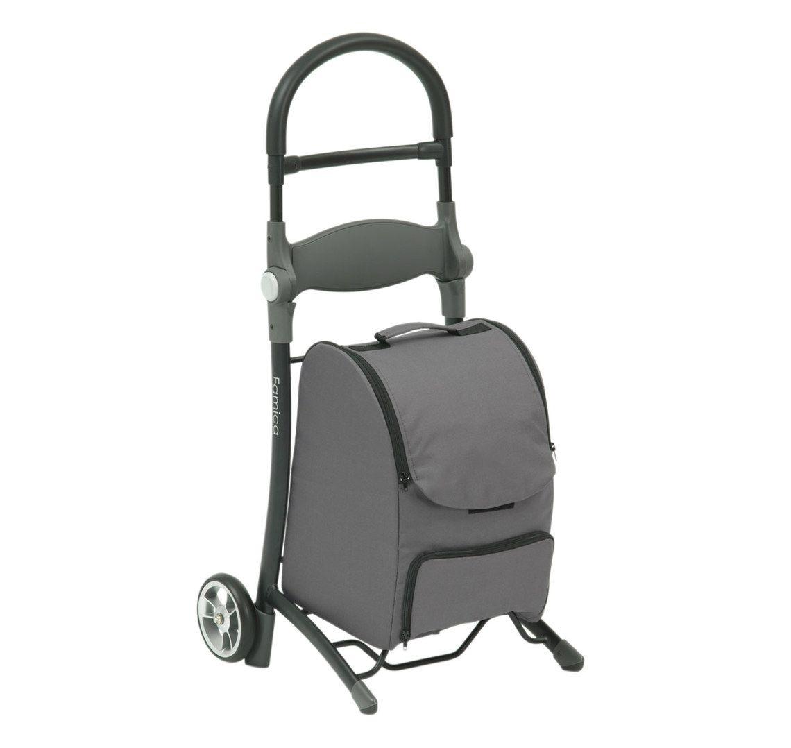 Shop N Sit Shopping Trolley Grey