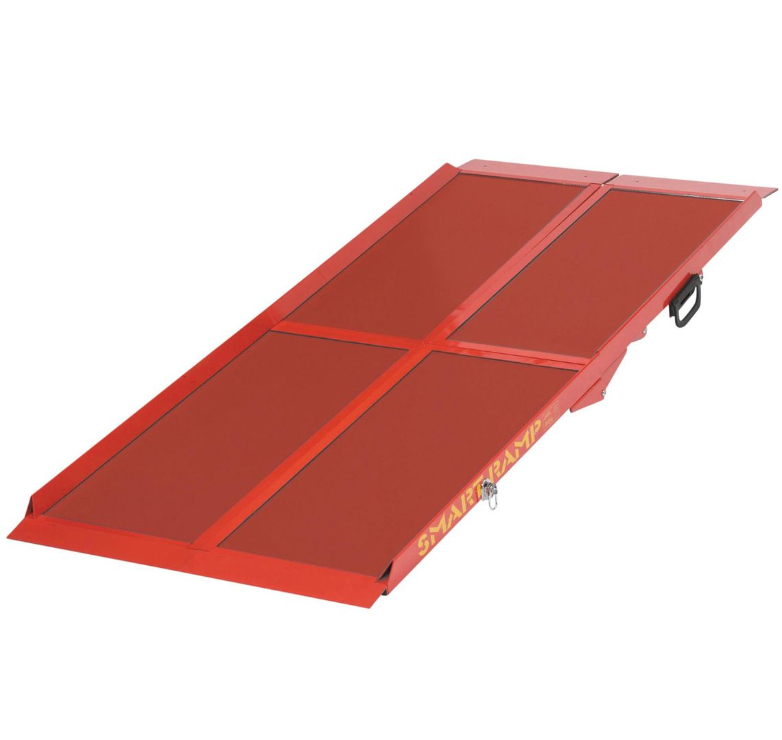 Folding aluminium mobility ramps for wheelchairs