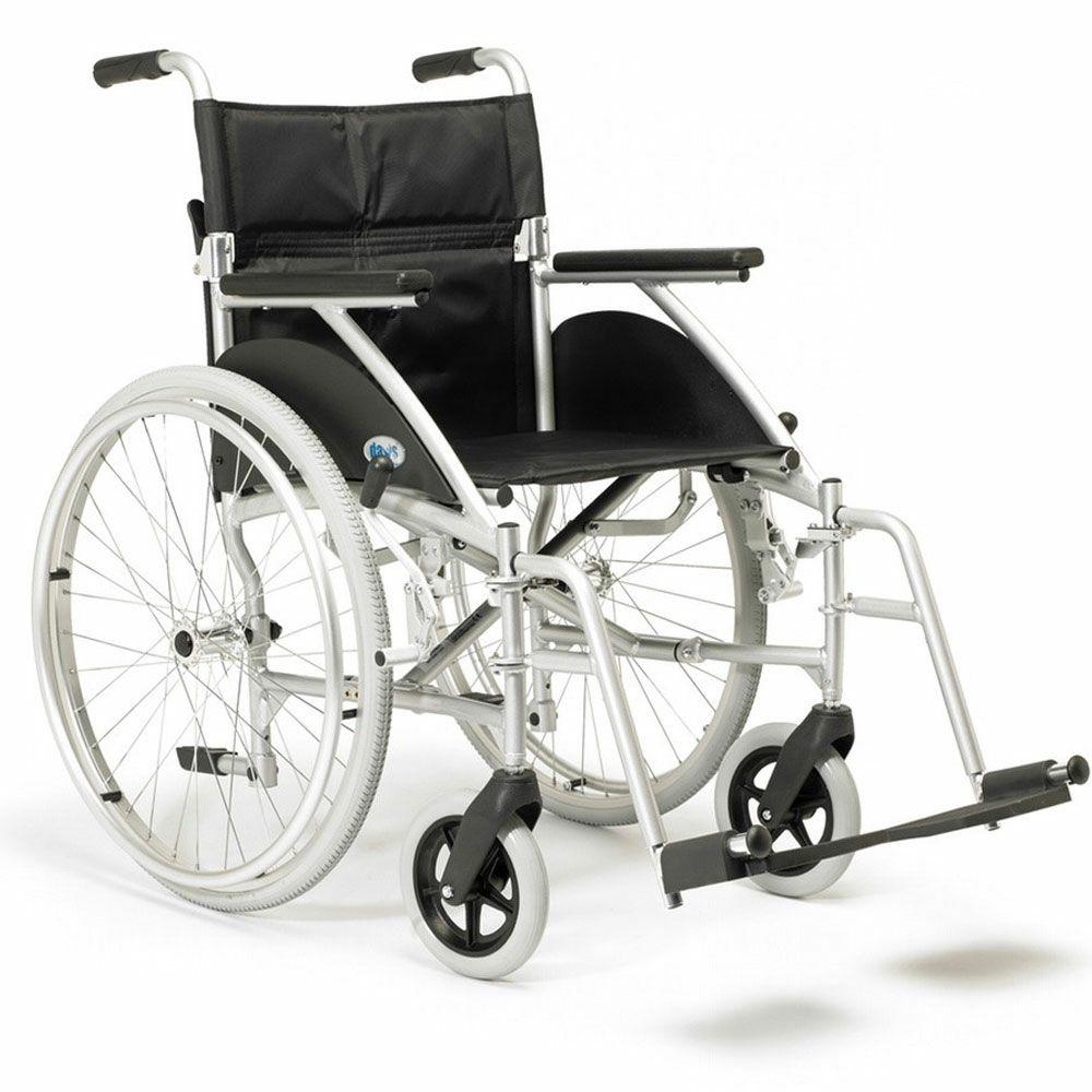 Days Swift Lightweight Self Propelled Wheelchair in Silver Side View