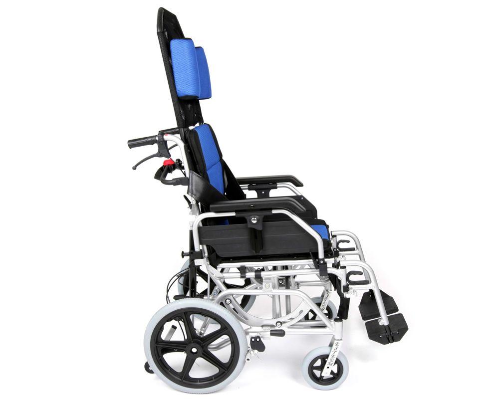 UGO Esteem Tilt In Space Folding Transit Wheelchair side view
