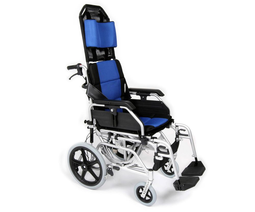 UGO Esteem Reclining Transit Wheelchair looking from the front