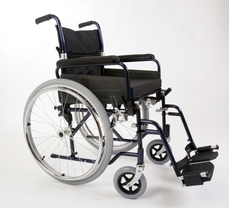 Esteem Self Propelled Folding Steel Wheelchair Side View