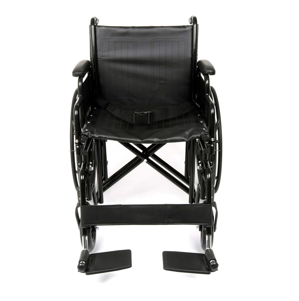 Front view of the Ugo Atlas heeavy duty self propelled wheelchair