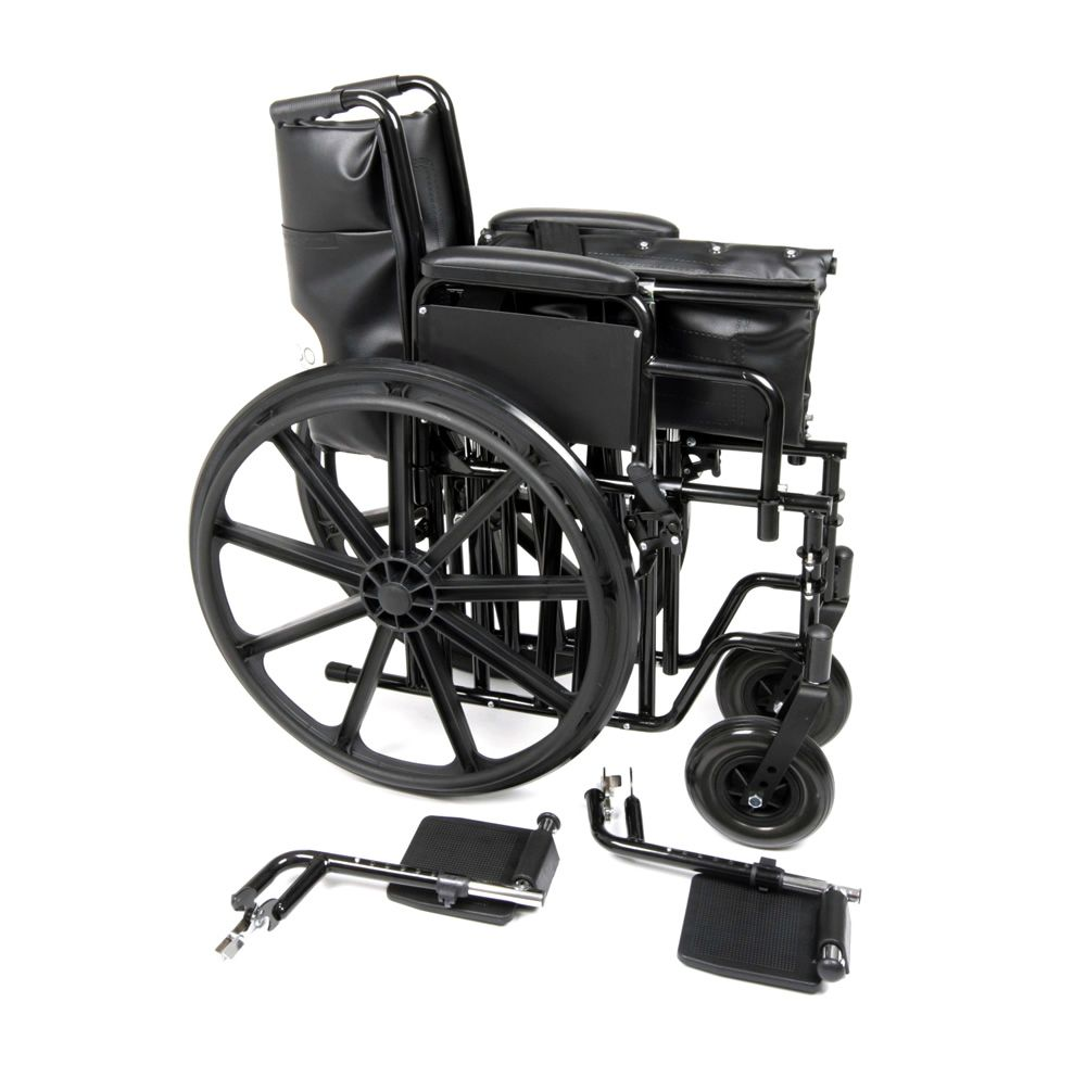 Ugo Atlas heeavy duty self propelled wheelchair in pieces ready for transportation