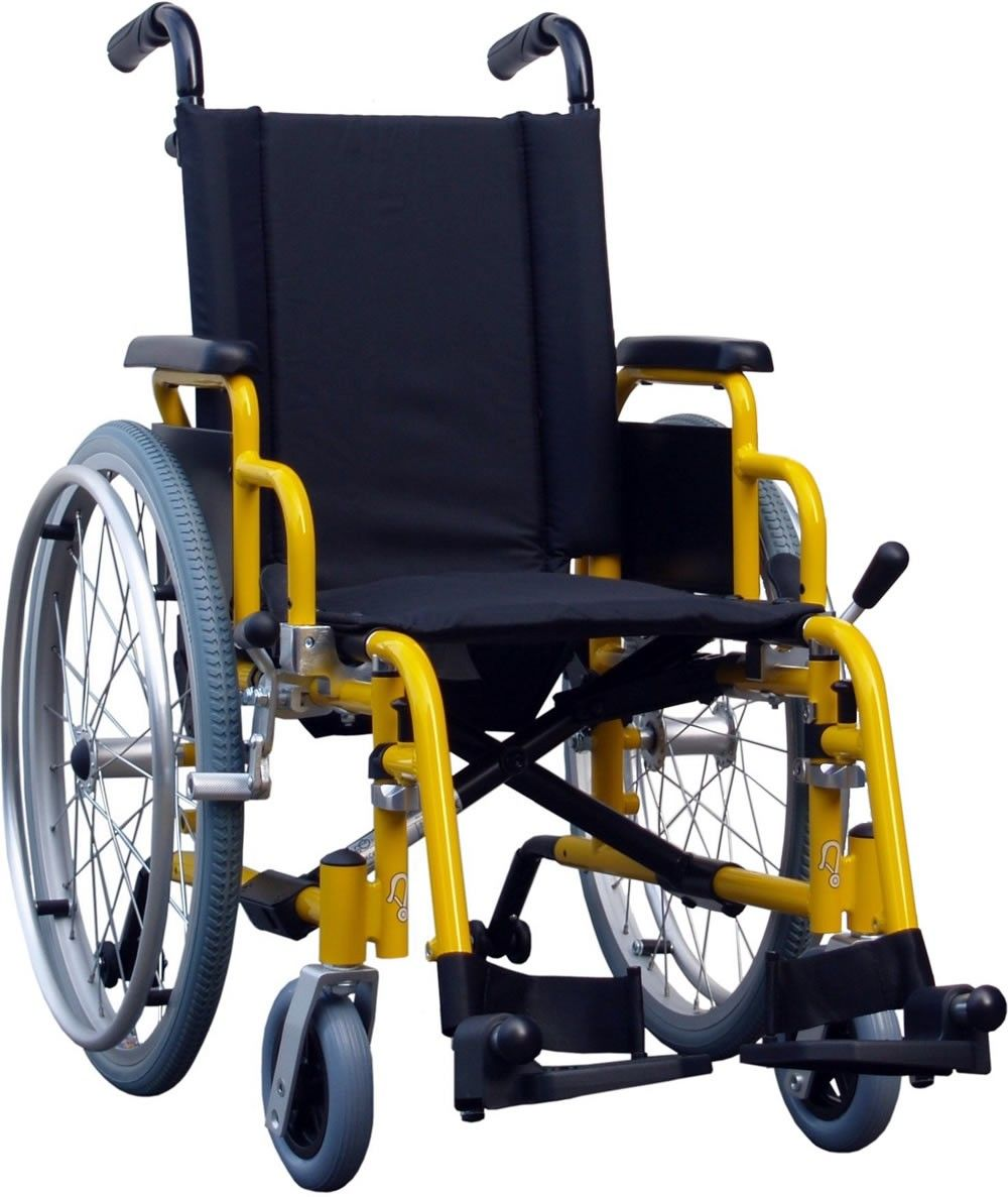 Van Os Excel G3 Paediatric Self Propelled Wheelchair shown from the side