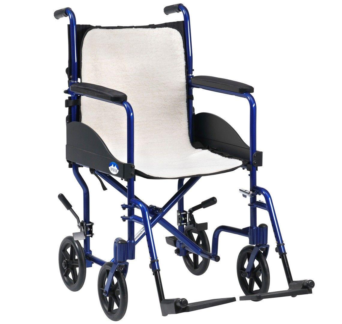Overlay fleece cushion for wheelchairs